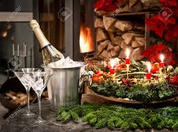 festive home interior decoration for christmas and new year with
