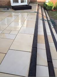 Patio Slabs Bridgend Pure Mint White Stone Sawn U0026 Honed Patio Pack Garden Paving