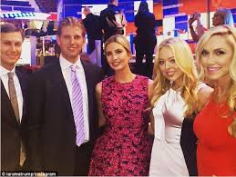 donald trump family glam trump family turn out to support donald in debates eric trump