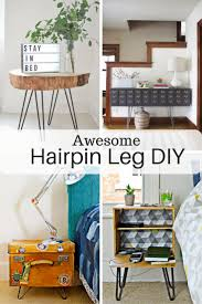 Diy Furniture Ideas Hairpin Legs Awesome Diy Furniture Ideas Pillar Box Blue