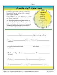 correlative conjunction foldable teaching grammar pinterest