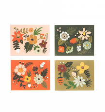 folk assorted card set by rifle paper co made in usa