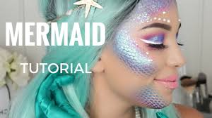 mermaid makeup halloween tutorial monicarosemua youtube