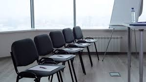 Office Conference Room Chairs Office Conference Room Chairs Dolly Shot Stock Footage