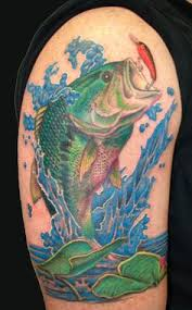 trendy fishing tattoos for everyone bass fishing maniacs