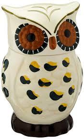 amazon com tuscany cute green owl shaped hand painted ceramic