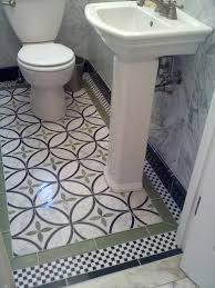 great floor tile in small powder room not sure will work for our