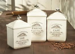 cream ceramic maison canister set traditional kitchen canisters