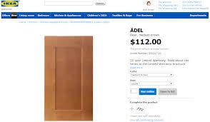 ikea adel medium brown kitchen cabinets custom doors for ikea cabinets