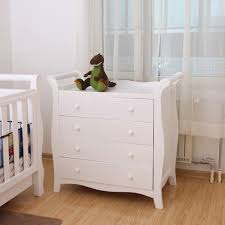 Cot Changing Table White New Zealand Pine 3 In 1 Baby Sleigh Cot Change Table Dresser