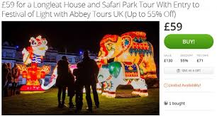 festival of lights prices longleat house and safari park only 59pp incl entry tour