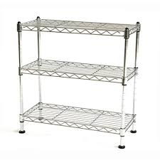 Kitchen Shelving Units by Details About 3 Tier Wire Shelving Unit Adjustable Rack Metal