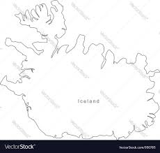 Blank Map Of Africa Pdf by Black White Iceland Outline Map Royalty Free Vector Image