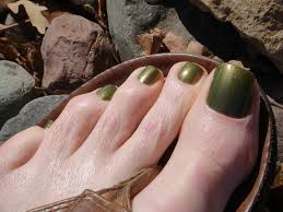 swampy olive green gold shimmer and duo chrome nail polish for men