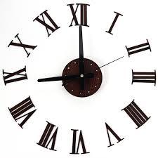 popular large wall mirror clock buy cheap large wall mirror clock