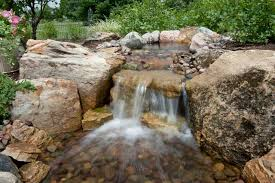 Backyard Waterfall Ideas by Another Example Of A Low Waterfall Pond Water Features