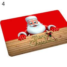 merry christmas santa claus floor mat door mat rug home décor non