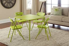 amazon com cosco 5 piece folding table and chair set apple green