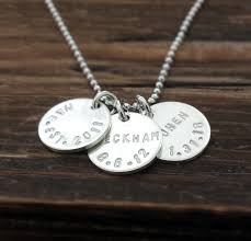 Kids Names Necklace Custom Name And Birthdate Necklace Personalized Kids Name