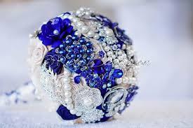 royal blue wedding pewter cobalt blue wedding brooch bouquet after midnight sale