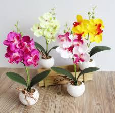 artificial orchids amenmo decorative flower pots planters silk artificial flowers