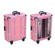Rolling Makeup Case With Lights Rolling Studio Makeup Train Case Cosmetic W Light Leg Mirror