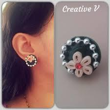 make stud earrings how to make quilling stud earring design 6 tutorial