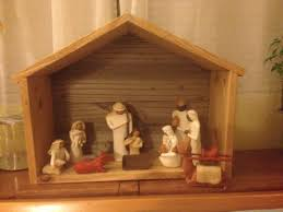 white stable for nativity diy projects