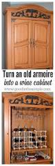 turn a tv armoire into a cabinet for wine bottles and glasses simple diy project turn an old television armoire into a wine liquor cabinet in