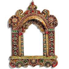 buy handmade wooden hanging jharokha with craftshopsindia
