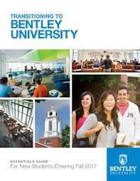 bentley university bentley essentials guide by bentley university new student