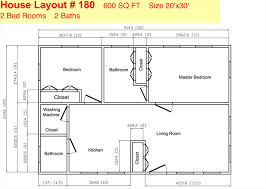 Home Plan Design 600 Sq Ft 35 Ft X 20 Ft Floor Plans Click To View Print Floor Plans