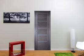 Interior Door Modern by Liberty Windoors Corp Venice Glass Grey Oak Modern Interior Door