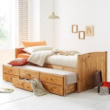 Solid Pine Bed Frame Kidspace Georgie Solid Pine Beds With Storage And Guest Beds