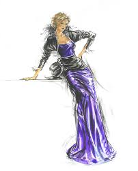 french gown fashion illustration fashion illustrations