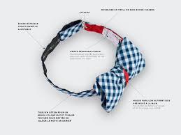 Meme Tie - bow tie vichy navy blue silk and cotton cinabre paris