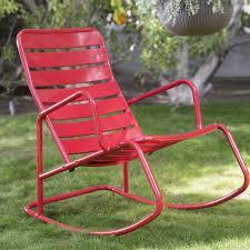 Contemporary Rocking Chairs Belham Living Adley Outdoor Metal Slat Rocking Chair Hayneedle