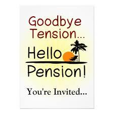 goodbye tension hello pension goodbye tension hello pension retirement card zazzle
