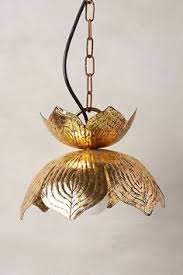 Lotus Pendant Light Gold Lotus Hanging Pendant L Handcrafted In India 79 99 On