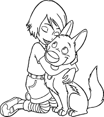 bolt dog coloring pages wecoloringpage
