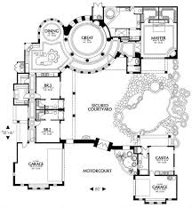 style home plans with courtyard 40 courtyard floor plans floor plan traditional style house