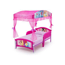 Disney Princess Toddler Bed With Canopy Disney Princess Plastic Toddler Bed With Canopy Walmart
