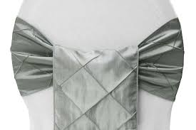 silver chair sashes wholesale pintuck silver sash cv linens
