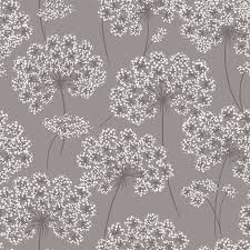 shop brewster wallcovering peel and stick grey vinyl floral