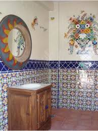 mexican tile bathroom designs bathroom using mexican tile and a mexican mural mexican home