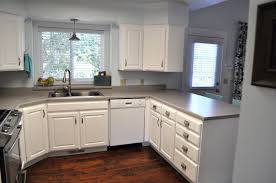 White Backsplash Kitchen Kitchen Cabinets Diy Kits Reddish Tiles Flooring Closed Wall