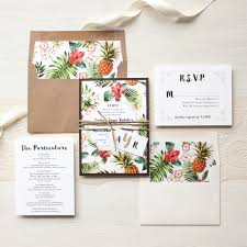pineapple paradise destination wedding invitations beacon