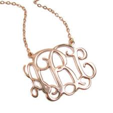 Small Monogram Necklace Best Small Gold Necklace With Initial Products On Wanelo