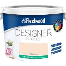 fleetwood soft sheen colours paint 10 litre coloured emulsions