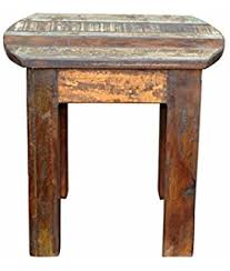 Reclaimed Wood Bar Stool Amazon Com Rustic Wood Bar Stool W Back Kitchen U0026 Dining